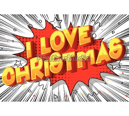i love christmas comic book