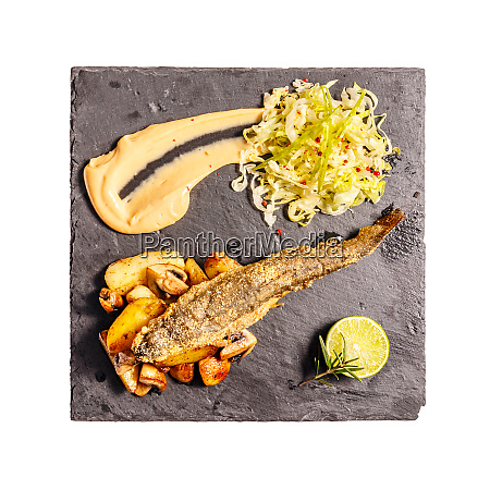 crunchy roasted trout