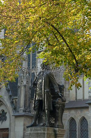 johann sebastian bach monument in front