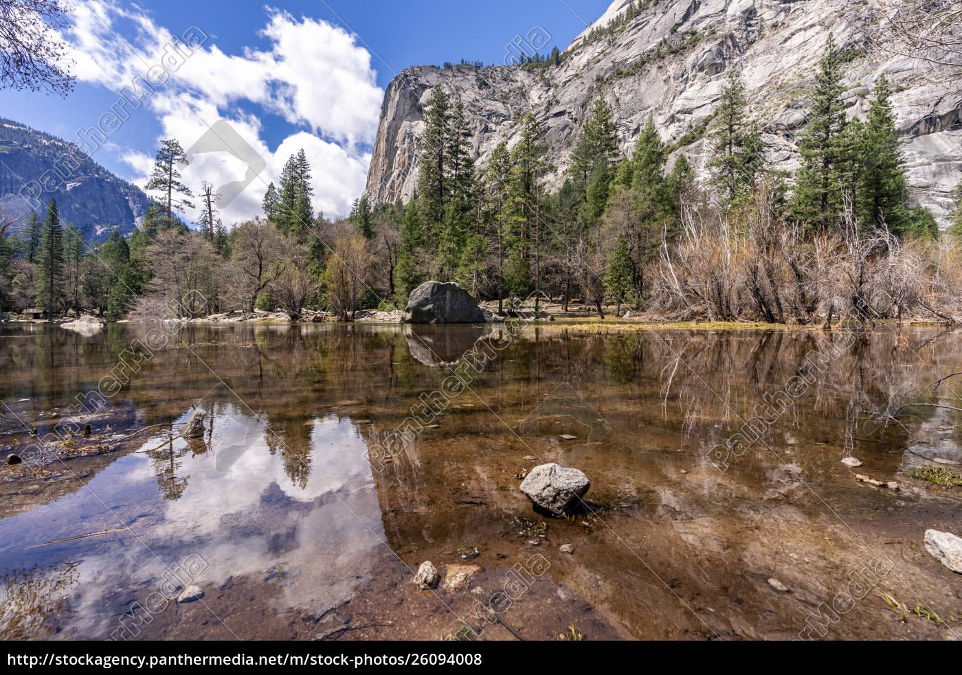 mirror, lake, yosemite, national, park - 26094008