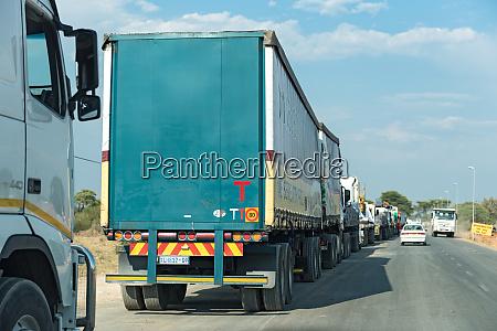 trucks are waiting for the kazungula