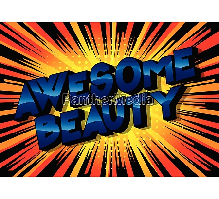 awesome beauty vector illustrated comic
