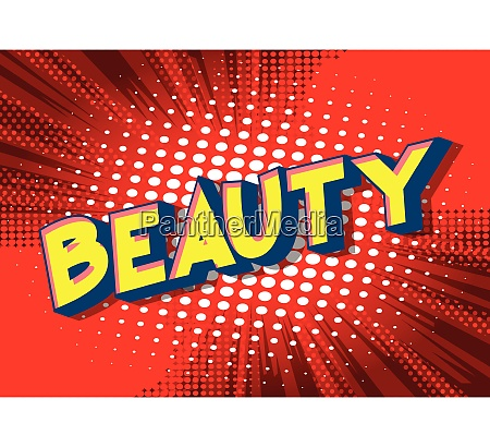 beauty vector illustrated comic book