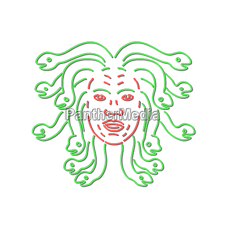 head of medusa neon sign