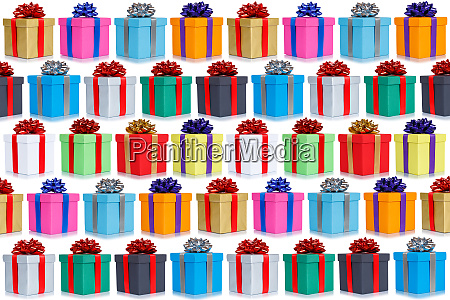 many gifts collection presents christmas background