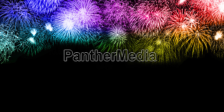 new years eve fireworks background copyspace