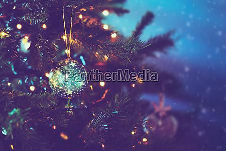 beautiful vintage christmas tree
