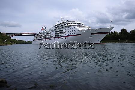 cruise ship on the kiel canal