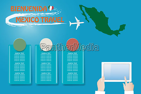 template vector travel to mexico