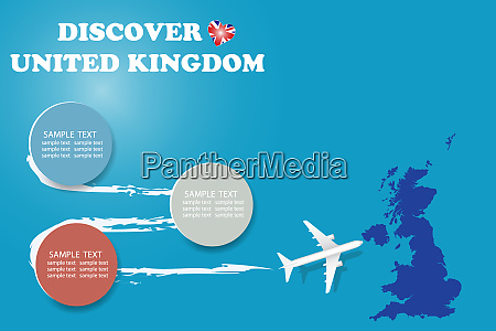 discover united kingdom template vector