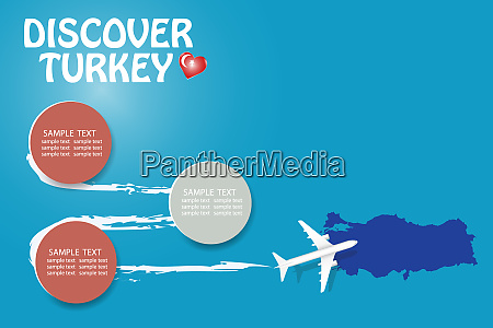 discover turkey template vector