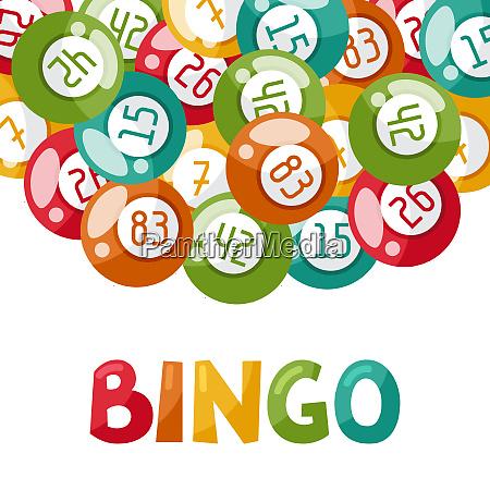 luck recreation activity balls bingo card