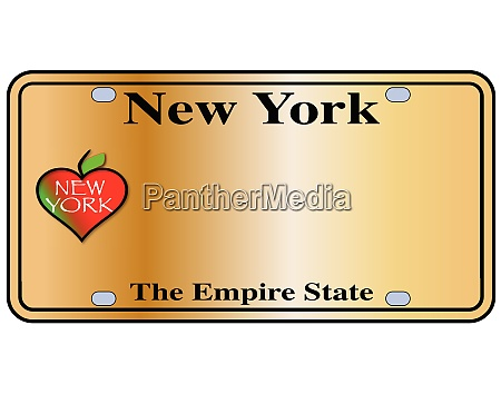 new york empire state plate