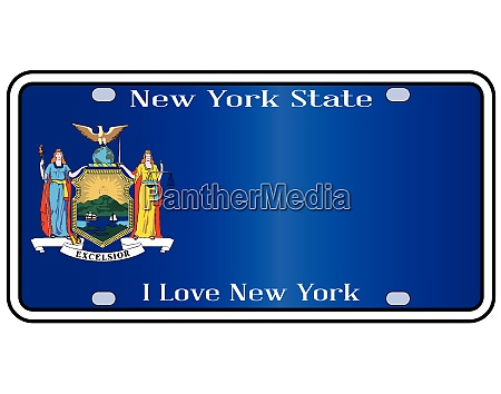 new york state license plate with