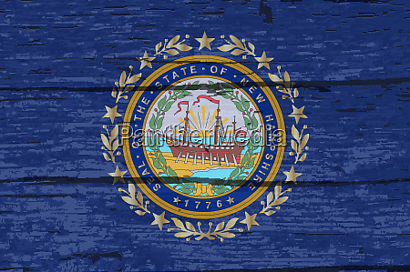 new hampshire state flag on old