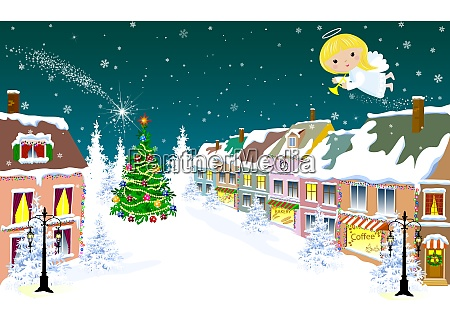 christmas angel in the sky on