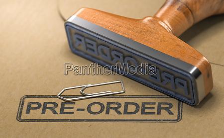 pre order item