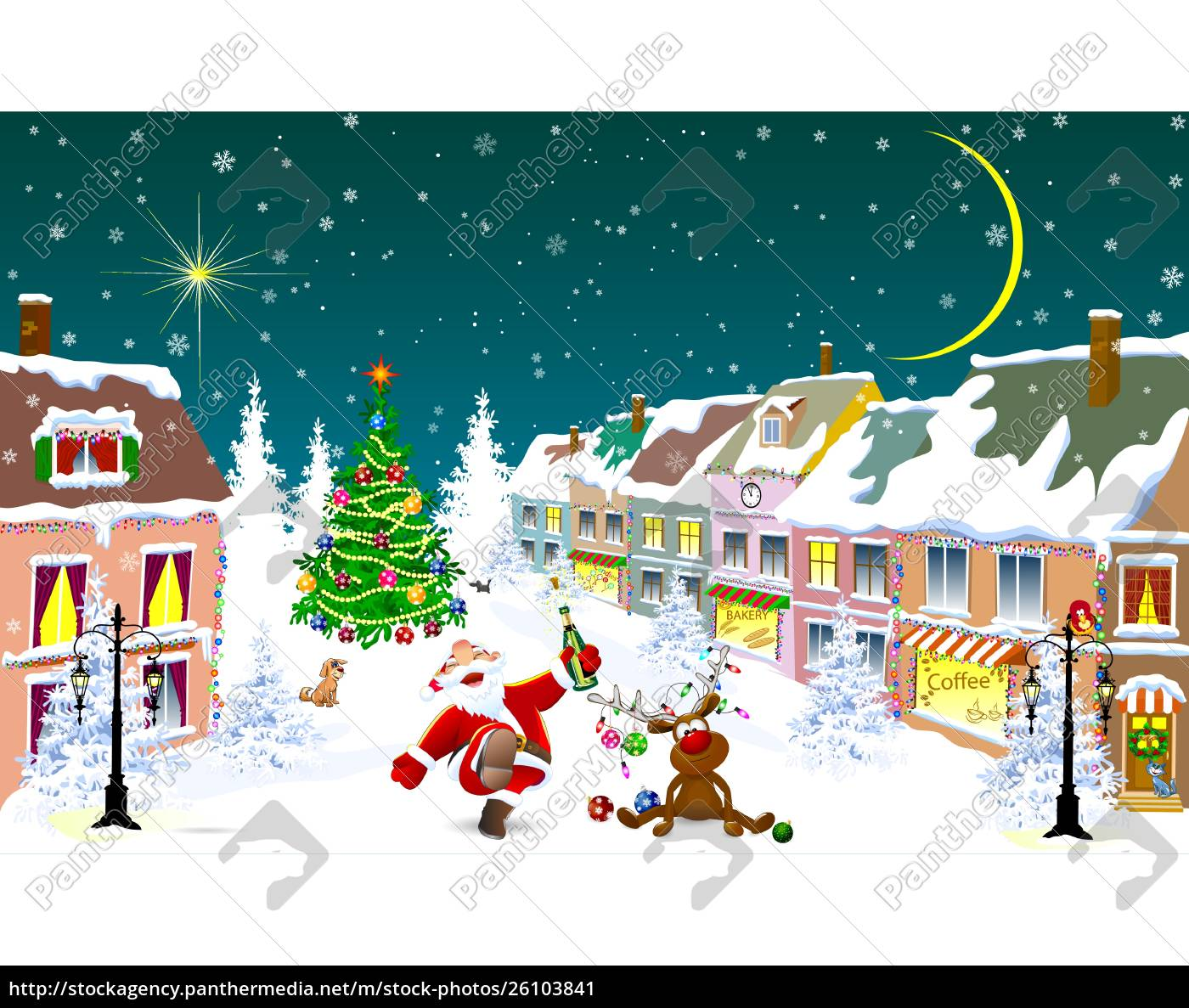 city, in, the, winter., santa, claus - 26103841