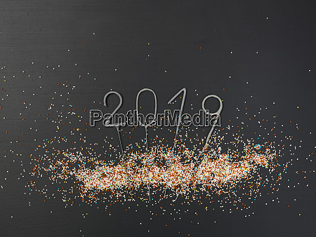 new years background with lettering 2019