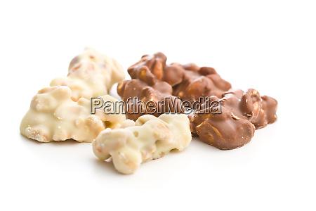 peanuts covered white and dark chocolate