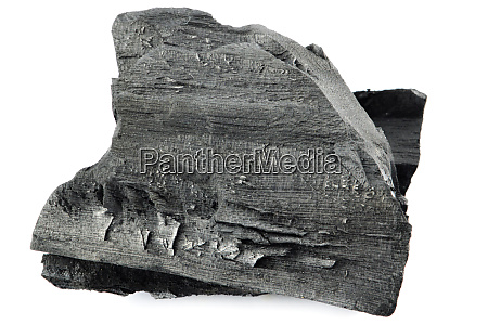 charcoal wood the black of