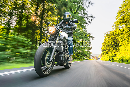 motorbike on the road riding having