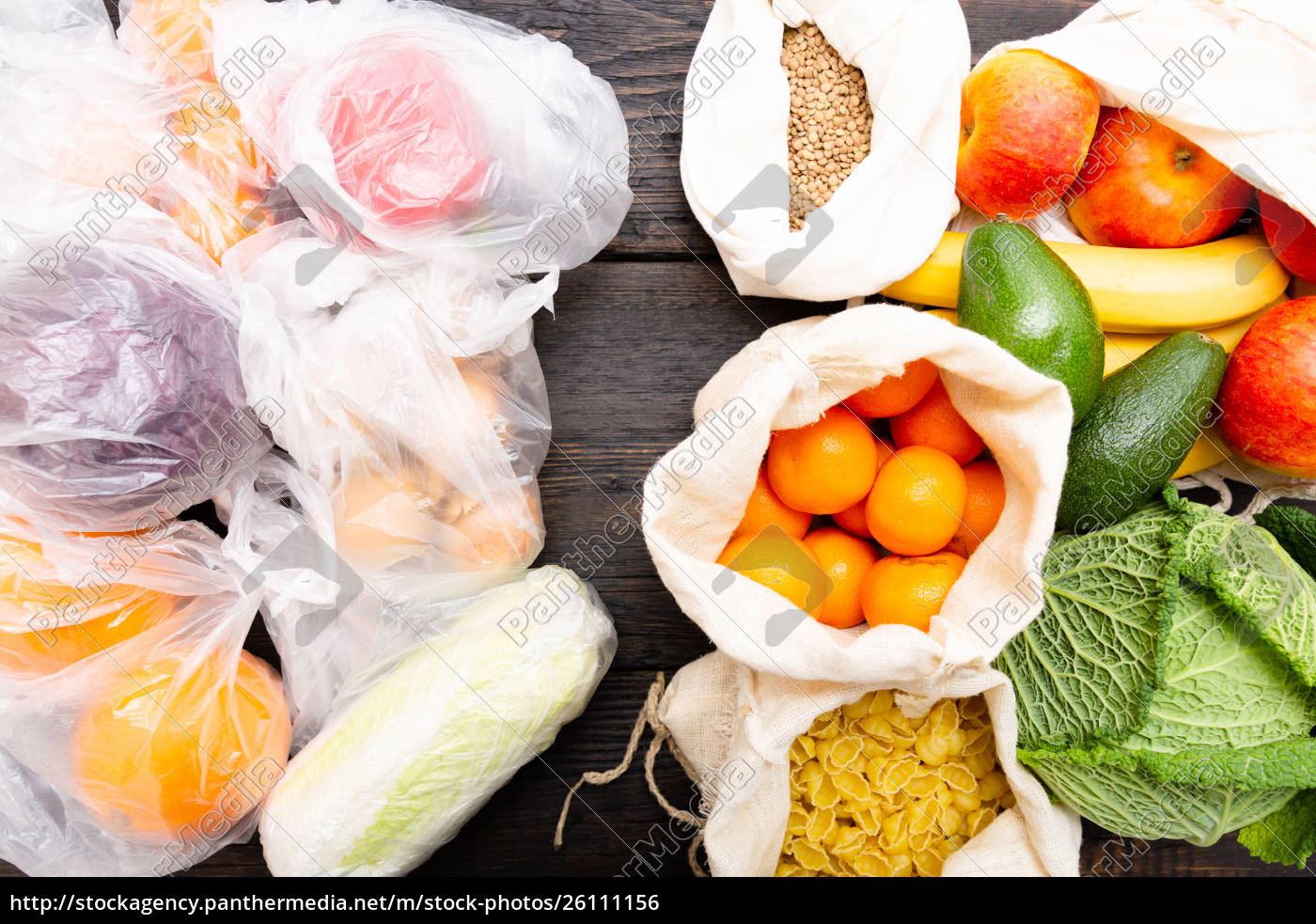 fresh, vegetables, and, fruits, in, eco - 26111156