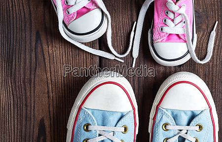 kids and adults textile sneakers