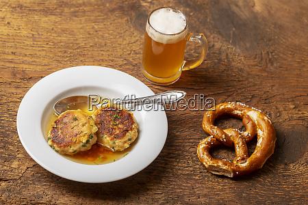 bavarian kaspressknoedel a cheese dumpling