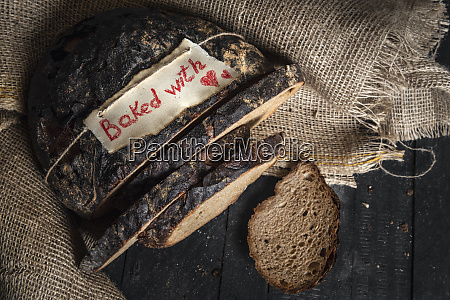 brown rye bread and baked with