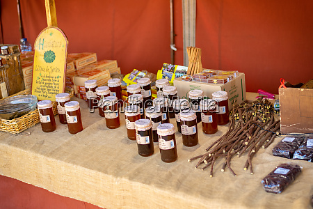 honey at the medieval market of