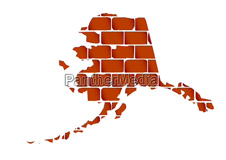 brick wall with the silhouette of