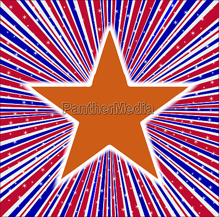 red white and blue rays with