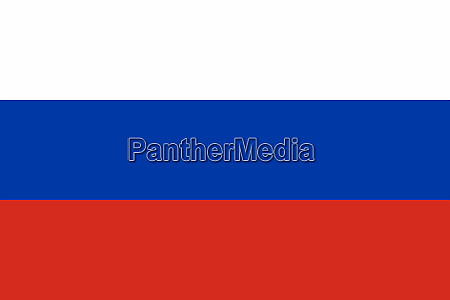 russian flag in red white and