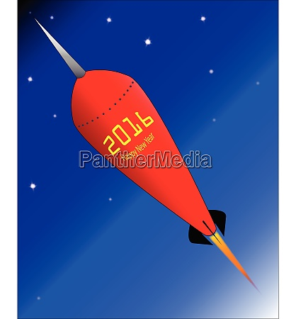 2016 happy new year rocket