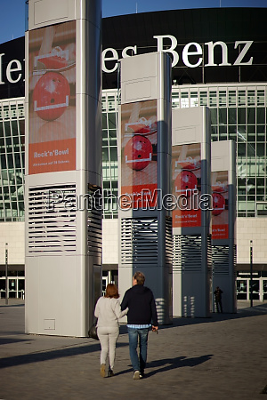 at the mercedes benz arena berlin