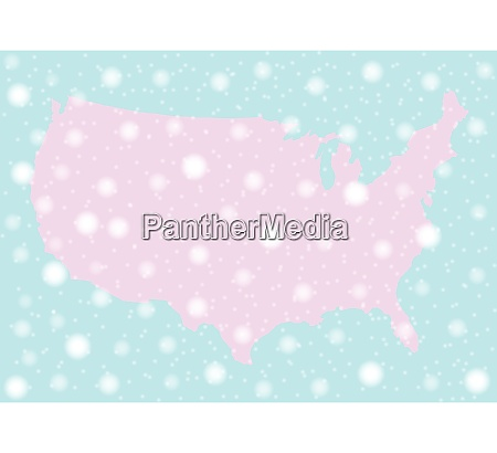 snowing over america