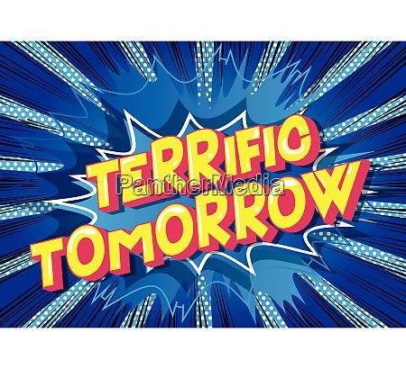 terrific tomorrow comic book style