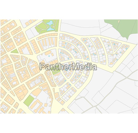 imaginary cadastral map of an area