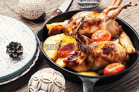 xmas roasted quail