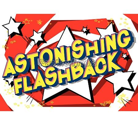 astonishing flashback comic book style