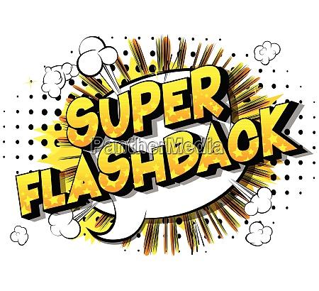 super flashback comic book style