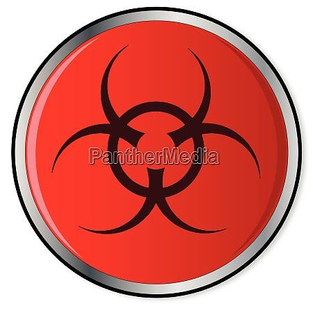 red bio hazard emergency button