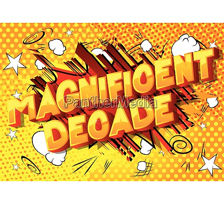 magnificent decade vector illustrated comic