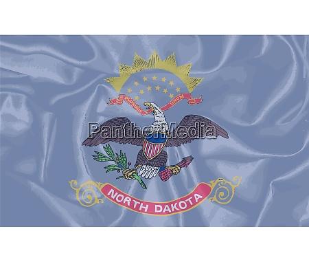 north dakota silk flag