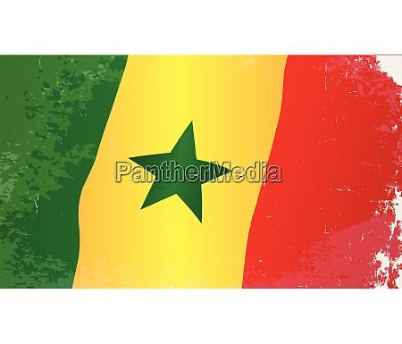 senegal flag grunge