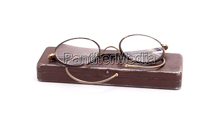 vintage glasses isolated