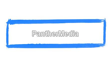 painted blue brush frame