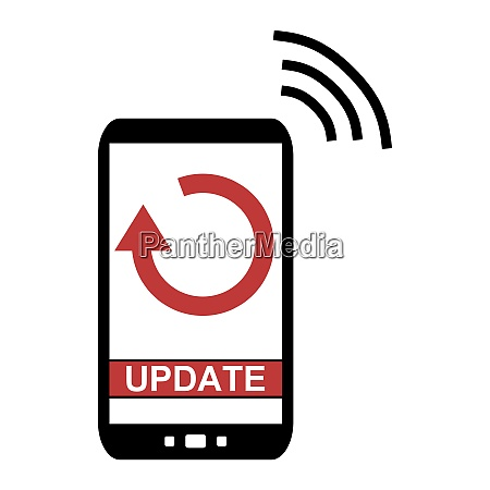 mobile phone with update