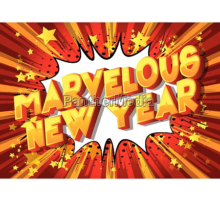marvelous new year comic book